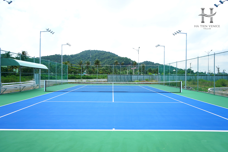 Tiến Độ Thi Công Sân Tennis Tháng 7 Dự Án Ha Tien Venice Villas