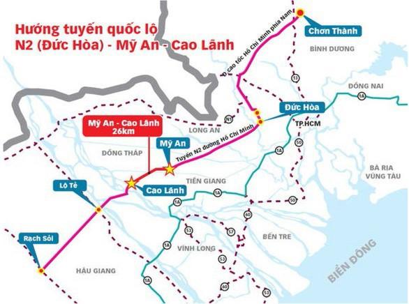 Đề xuất đầu tư 194 triệu USD xây tuyến Mỹ An – Cao Lãnh dài 26 km